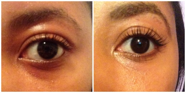 Lancome mascara before and after pciture
